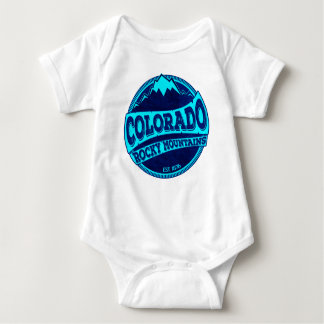 Colorado Rocky Mountains teal blue ink baby body Baby Bodysuit