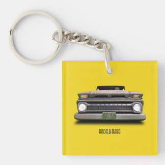 Colorado Rusty Pickup Truck Toasted Autos Keychain