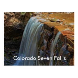 Colorado Seven Fall's POST CARD