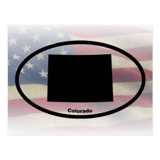 Colorado Silhouette Oval Design Postcard