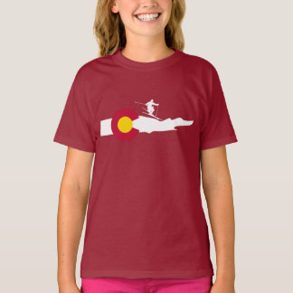 Colorado Ski Skiing Flag T-Shirt