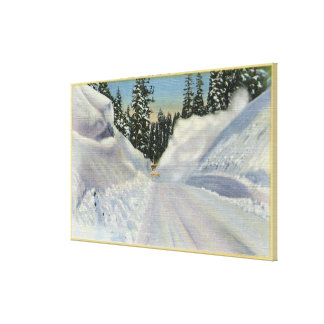 "Colorado ""Snogo"" Snow Plow Clearning Winter Canvas Print"