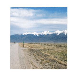 Colorado Snow Mountais Notepad