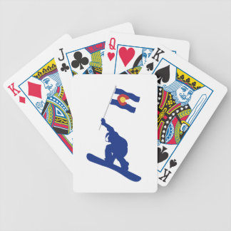 Colorado Snowboard Flag Bicycle Playing Cards