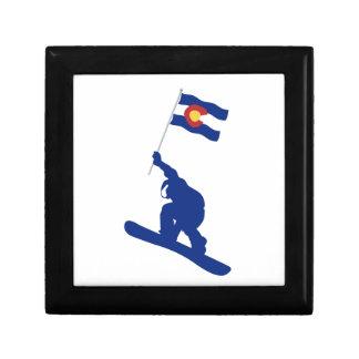 Colorado Snowboard Flag Gift Box