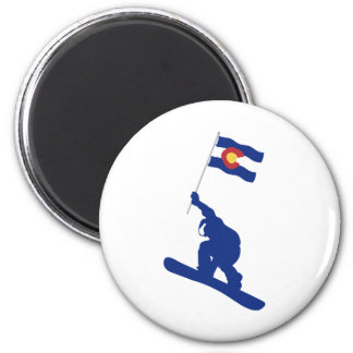 Colorado Snowboard Flag Magnet