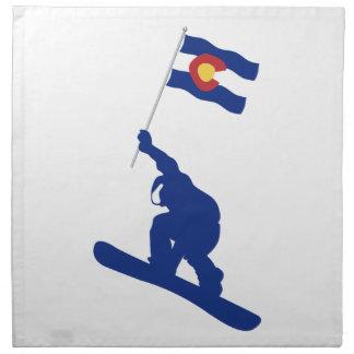 Colorado Snowboard Flag Napkin
