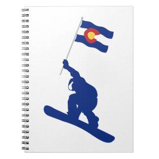 Colorado Snowboard Flag Notebook