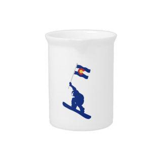 Colorado Snowboard Flag Pitcher
