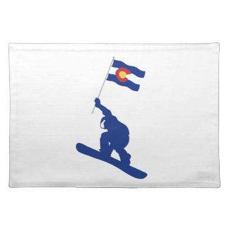 Colorado Snowboard Flag Placemat