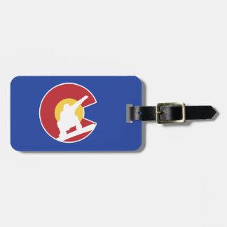 Colorado Snowboard Luggage Tag