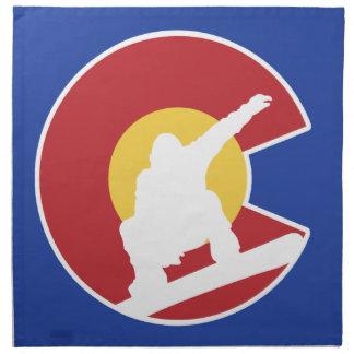 Colorado Snowboard Napkin