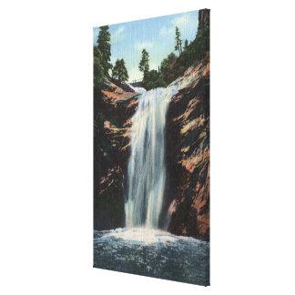 Colorado Springs, CO - Bridal Veil Falls Stretched Canvas Print