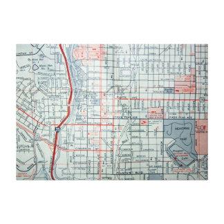 Colorado Springs, CO Vintage Map Print