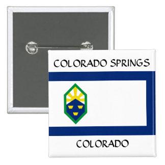 Colorado Springs Flag Buttons