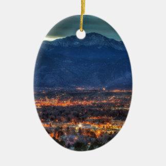 Colorado Springs Lights Christmas Tree Ornament