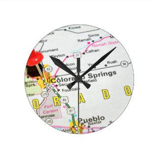 Colorado Springs Round Clock