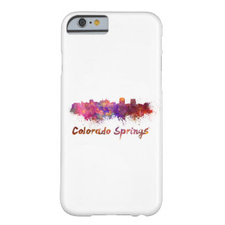 Colorado Springs skyline in watercolor Barely There iPhone 6 Case