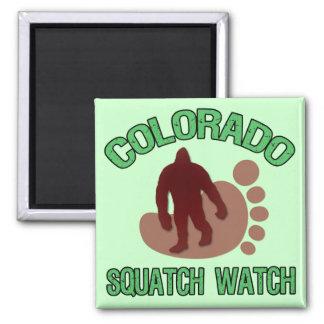 Colorado Squatch Watch Square Magnet