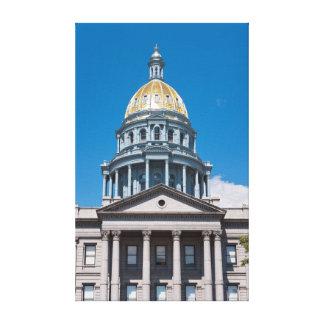 Colorado State Capitol Dome and Portico Canvas Print