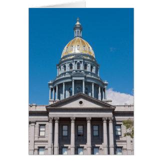 Colorado State Capitol Dome and Portico Card