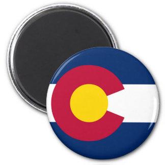 Colorado State Flag 6 Cm Round Magnet