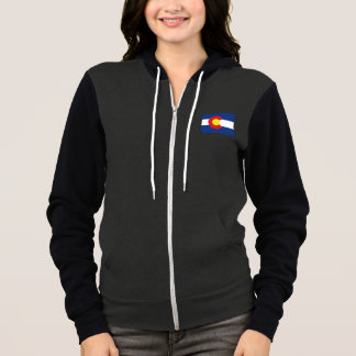 Colorado State Flag and Map Women's Hoodie