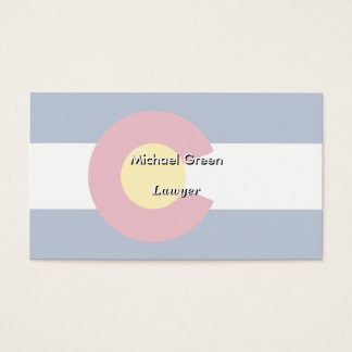 Colorado State Flag Business Card