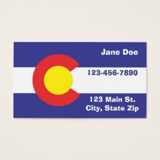 Colorado State Flag Business Cards