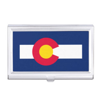 Colorado State Flag Design Business Card Holder