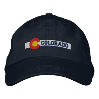 Colorado State Flag Design Embroidered Hat