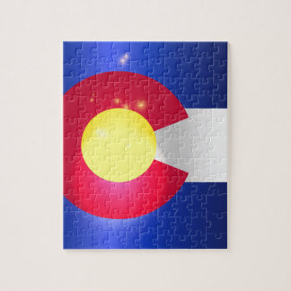 Colorado State Flag Glow Puzzle