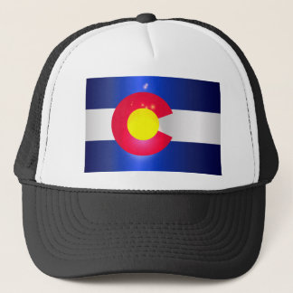 Colorado State Flag Glow Trucker Hat