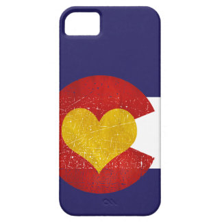 Colorado State Flag Heart Grunge Denver Love Barely There iPhone 5 Case