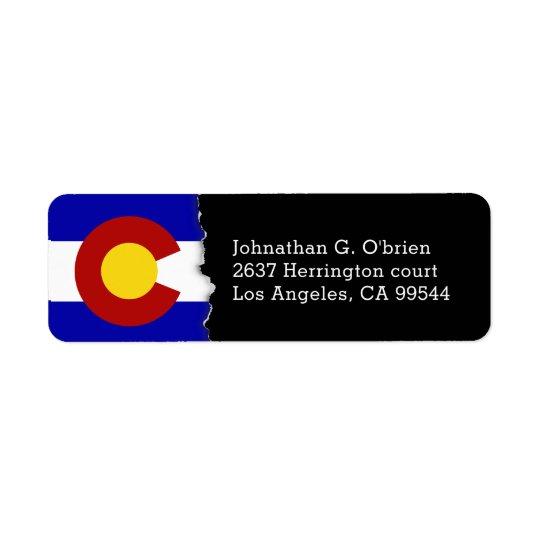 Colorado State Flag Personalised Return Address Label