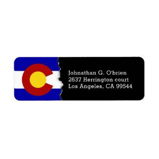 Colorado State Flag Personalized Return Address Label