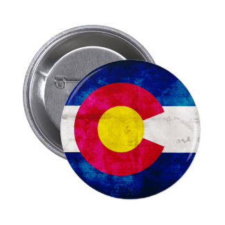 Colorado State Flag Pinback Buttons