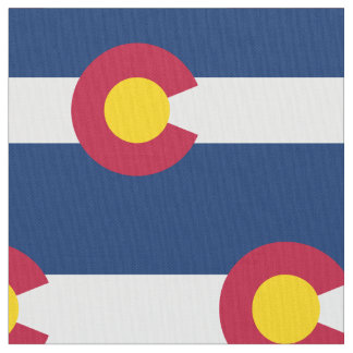 Colorado State Flag Repeating Pattern Fabric