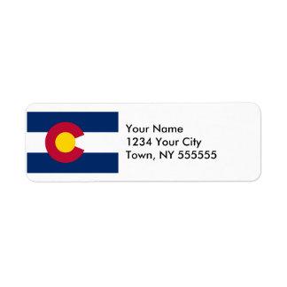 Colorado State Flag Return Address Label