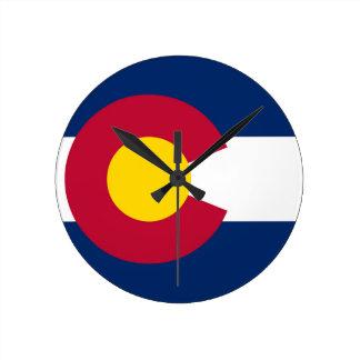 Colorado State Flag Round Clock