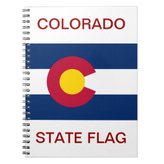 Colorado State Flag Spiral Notebook