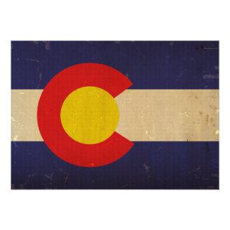 Colorado State Flag VINTAGE.png Custom Invitation