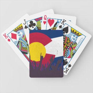 Colorado State Flag with Audience Bicycle Playing Cards