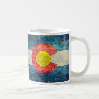 Colorado State flag with vintage retro grungy look Coffee Mug