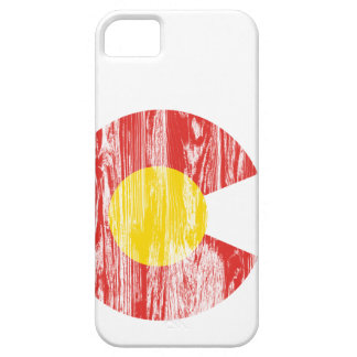 Colorado State Flag Wood Grain Denver Love Case For The iPhone 5