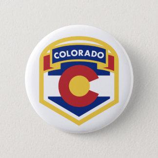 COLORADO STATE FLAG zazzle 6 Cm Round Badge