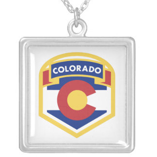 COLORADO STATE FLAG zazzle Silver Plated Necklace