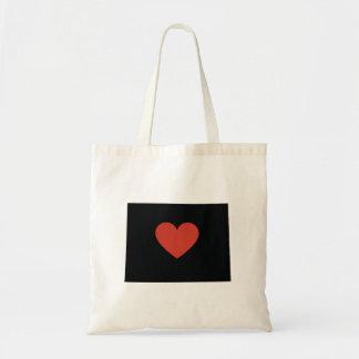 Colorado State Love Book Bag or Travel Tote