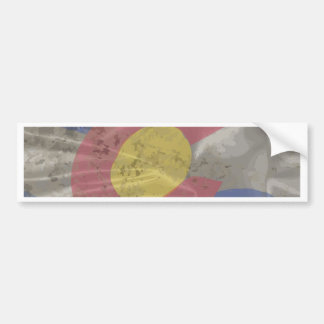 Colorado State Silk Flag Bumper Sticker
