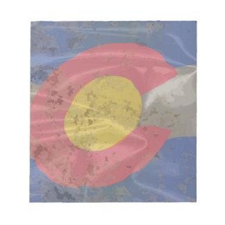 Colorado State Silk Flag Notepad